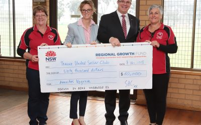 NSW Government Grant brings changing times to Temora United Soccer Club