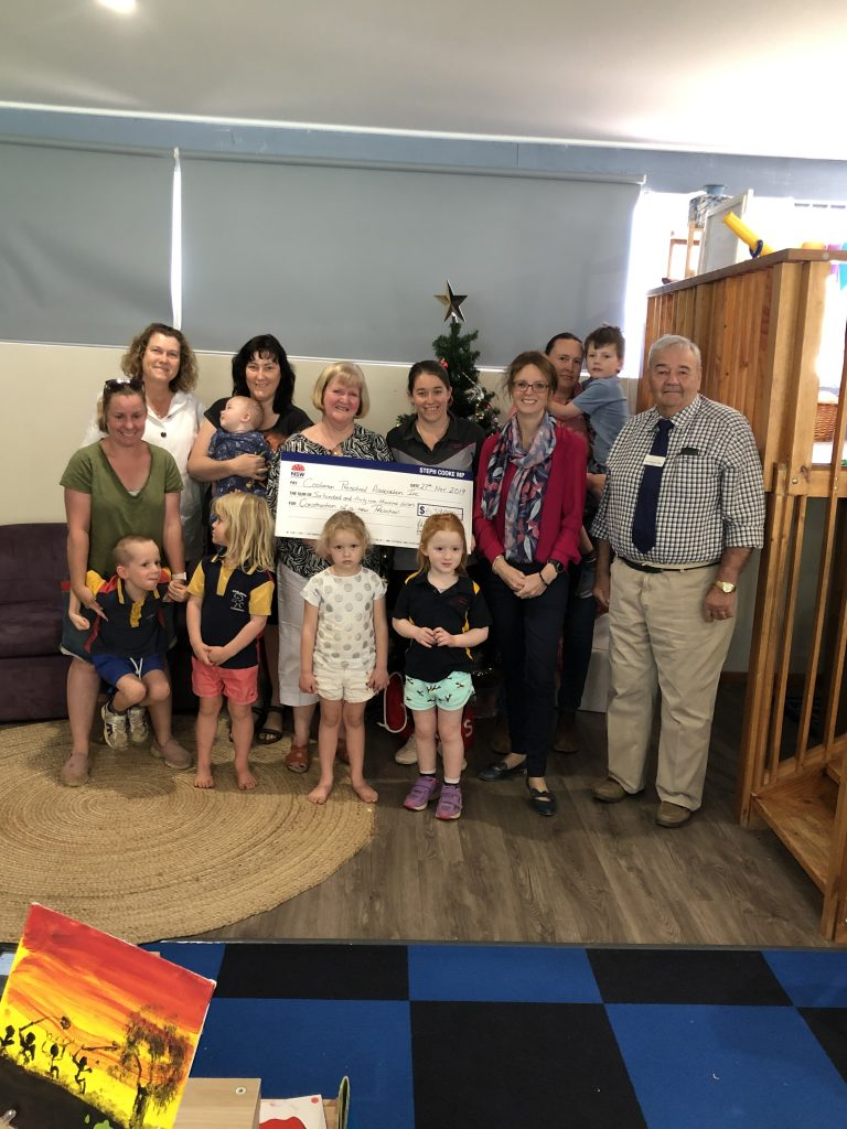 Member for Cootamundra Steph Cooke at Coolamon Preschool to announce funding for a new build.