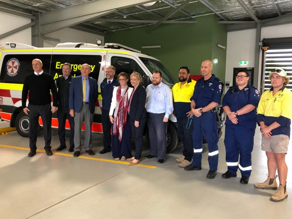 Member for Cootamundra Steph Cooke at the new Cowra Ambulance Station