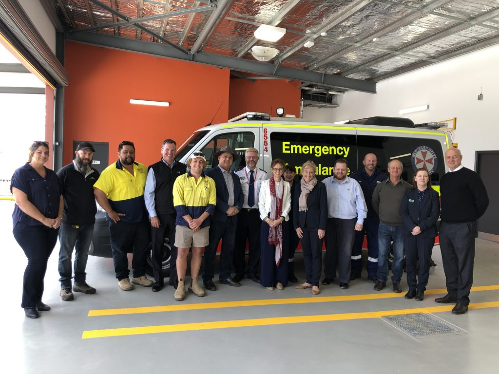Member for Cootamundra Steph Cooke inspecting the new Ambulance Station at Grenfell