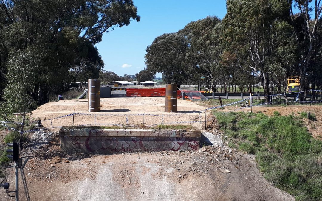 Work Continues on Temporary Bridge at Wallendbeen